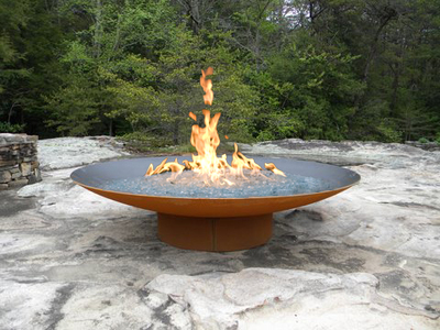 - Asia 48″ Gas Fire Pit By Fire Pit Art