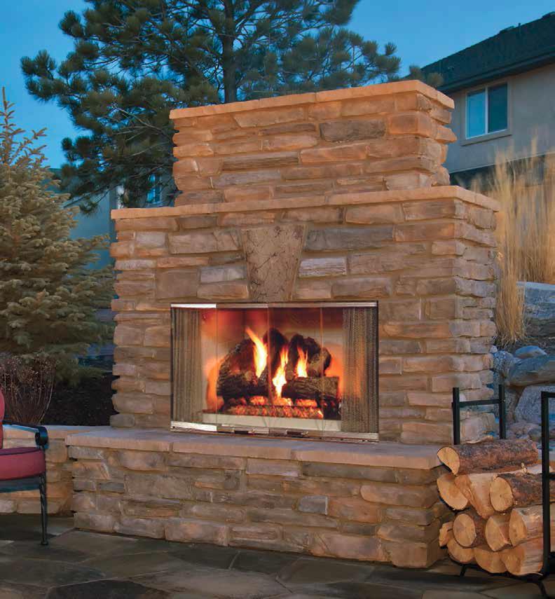 Majestic Montana 42 Outdoor Wood Fireplace Traditional Brick