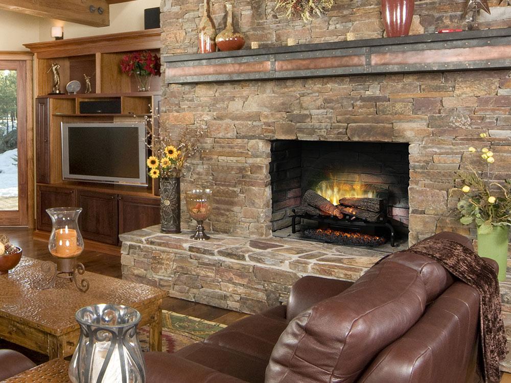 Dimplex 25 In Revillusion Electric Fireplace Log Set W Ashmat