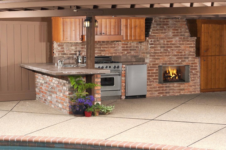 Majestic Villawood 42 Quot Outdoor Wood Fireplace Herringbone