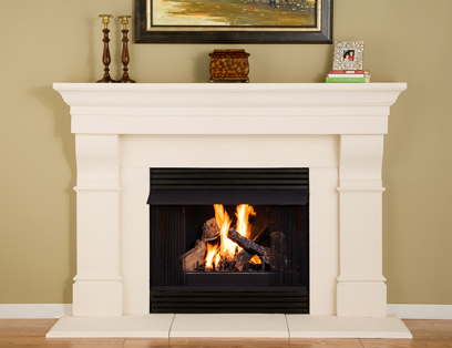 Premier Mantels Creighton Thin Cast Stone Mantel Surround
