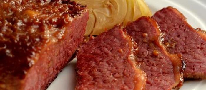 glazed corn beef