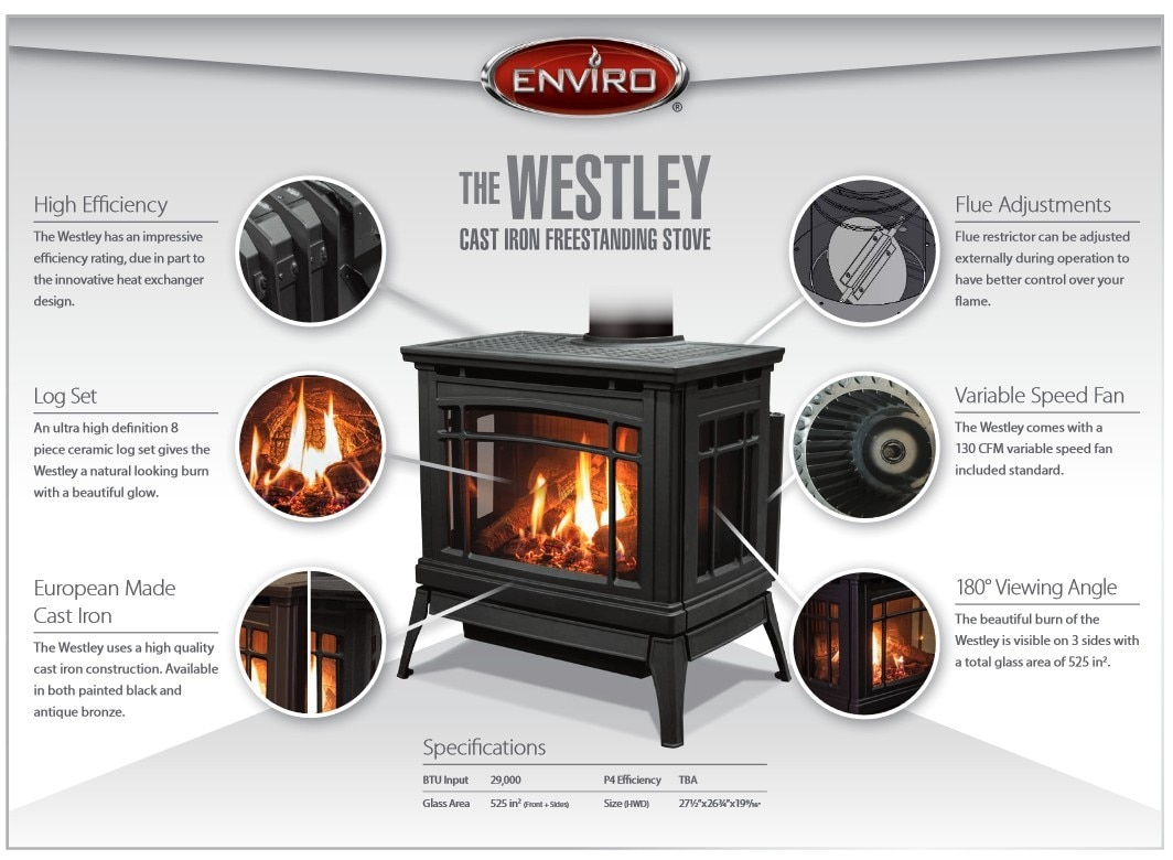 Enviro Westley Steel Gas Stove