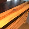Pine wood fireplace mantel custom