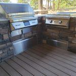 custom barbecue island